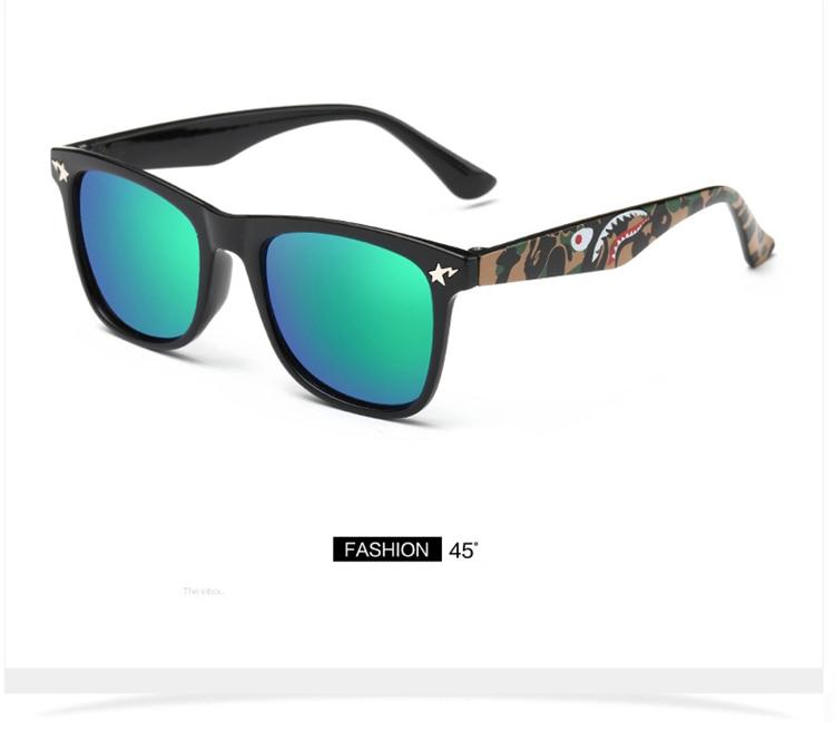 Fashion Kids Sunglasses lovely Sunglasses Mosaic Boys Girls Pixel Eyewares With Case Children Gift (4)