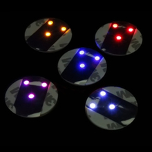 Top Quality Promotion Price LED Coaster Flashing Light Bulb Bottle Cup Mat Color Changing Light Up For Club Bar Home Party Use