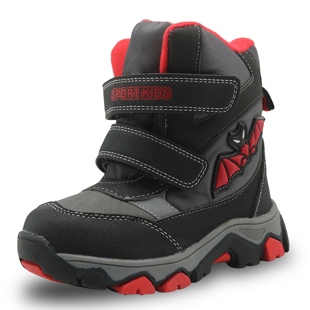 Children Little Big Kids Snow Boots PU Leather Waterproof Kids Winter Shoes Resistance Boys Snow Boots EUR 27-32<br>