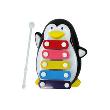 Penguin Learning&Education Wooden Xylophone For Children Kid Musical Toys Xylophone Wisdom 5-Note Music Instrument wholesale