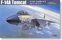 Hobby Boss 1/72 scale aircraft models 80276 F-14A male cat carrier fighter(China)