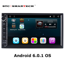 2 din Android 6.0.1 Car radio GPS navigation 7 inch Quad Core car head unit stereo audio player with Bluetooth 3G WIFI OBD Map