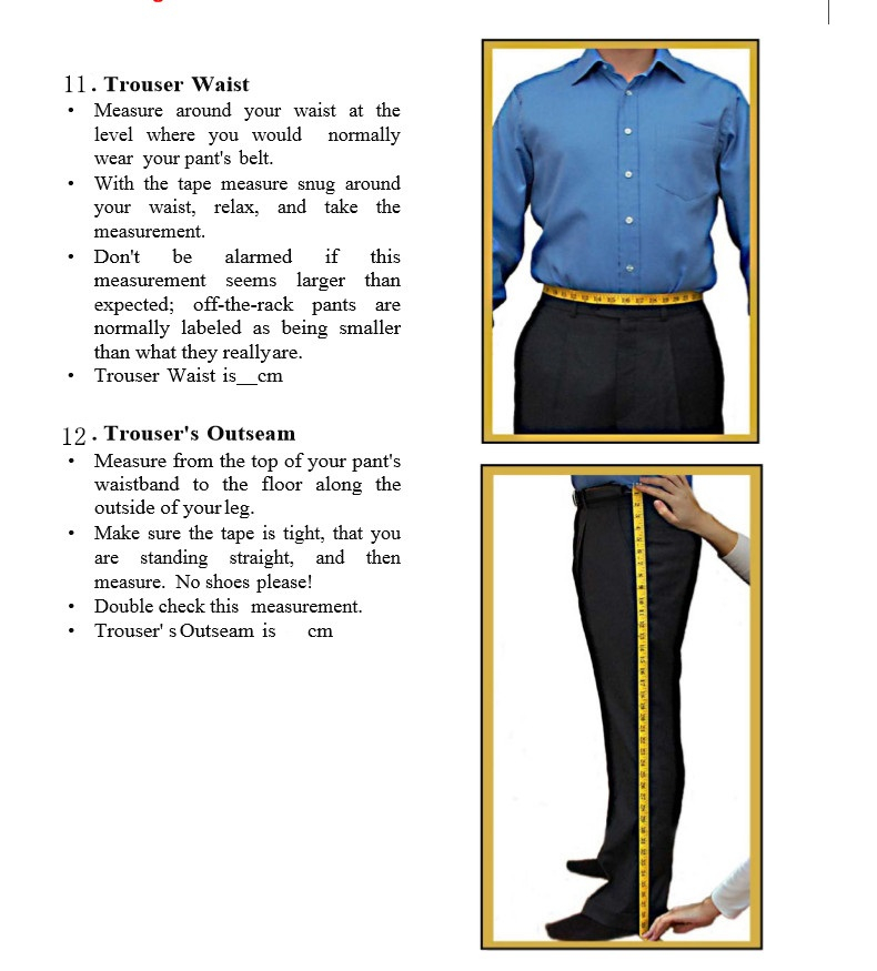 11Pant\`s Waist and Length