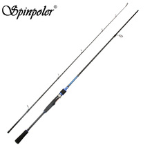 Cheap Casting Spinning Fishing Rod 2.1m Medium High Carbon Lure Fishing Rod Tackle China Pesca Blue Color 2 Sections Fishing Rod(China)