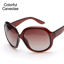 Colorful Caveolae Brand Name Sunglasses Women Big Metal Frame Polarized Sunglasses Woman All-Match Fashion Ladies Glasses(China)