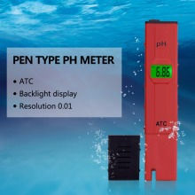 Digital PH meter 0-14 Pen-type pool Aquarium ph tester Drinking water purity analyzer Soil Paper ph meter 0.01 Accuracy(China)