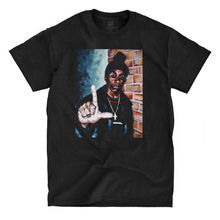Big L - Painting - Black T-Shirt Hip Hop Clothing Cotton Short Sleeve T Shirt Top Tee Men'S O-Neck Printed Tee Shirt Top Tee(China)