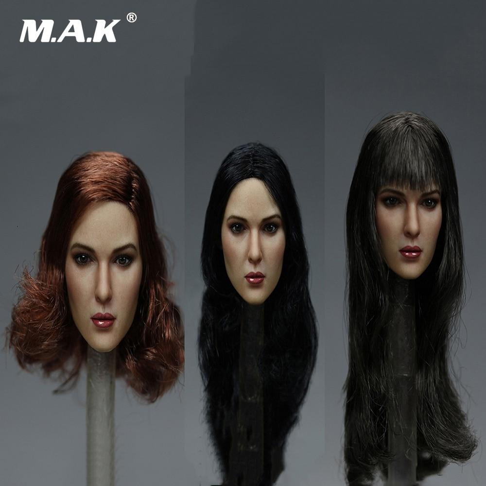 1/6 Scale Female Beauty European Head Sculpt Long/ Short Hair Head Carved Sculpt Model KT011 A/B/C for 12 inches Action Figure<br>