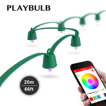 MIPOW PLAYBULB Smart Christmas LED Lights Colorful Fairy Rope String Light Indoor Outdoor Xmas Decorations Party Lighting 20M