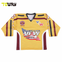 Sublimation ice hockey jersey/custom style hockey shirts(China)