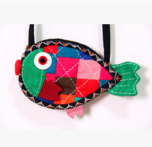 Top Hot Kids Gift nice fish bags children coin holder natioal handmade animal bags fashionable kids phone carrybagwholesale