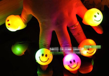30pcs/lot Colorful LED Finger Light Fun Laser Finger Beams Ring Led Toys Luminary Photo Props(China)