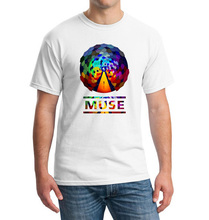 Fashion Summer Short Sleeve T-shirts British Music Rock Band MUSE Printing  Shirts Resistance Uprising Hip Hop Tshirts Men Tees