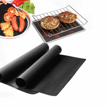 2pcs/lot 0.2mm Thick ptfe Barbecue Grill Mat 33*40cm non-stick Reusable BBQ Grill Mats Sheet Grill Foil BBQ Liner(China)