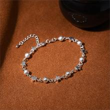 New Brand Silver Plated with Ball Star Beads Charm Bracelet Bangle for Women Men Gift