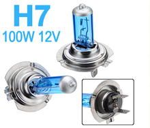 4pcs/Lot 100W H7 Halogen Fog Lamps Bulbs Super Bright White Car Head Lamp Light Parking Car Light Source