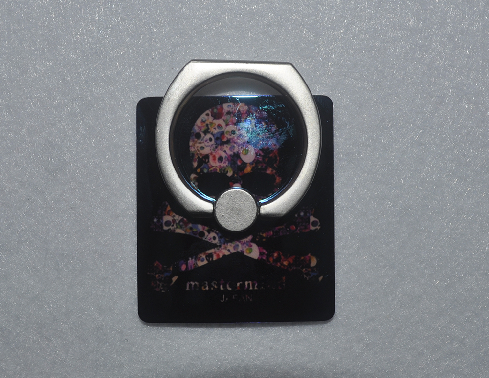 New Mobile Phone Fashion Holder Cool Black Skull Pattern Magic Blu-ray Universal Ring Stands With Retail Box And Hook