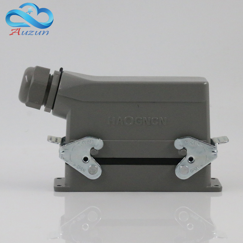 Rectangular H24B - HE - 024-1 heavy duty connectors 24 pin  line 16 a500v screw feet of aviation plug on the side <br>