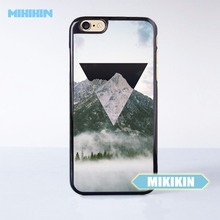 MIKIKIN Geometric Negative x Mountain Fog Cell Phone Protective Case For For iPhone7 7 Plus 6 6S Plus SE 5 5S 5C 4 4S(China)