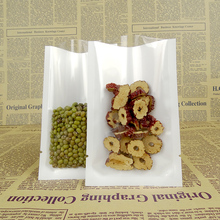 Wholesale 6*9cm Transparent Plastic Retail Vacuum Pouch Open Top White / Clear Heat Sealing Packaging Bag Coffee Tea Storage Bag