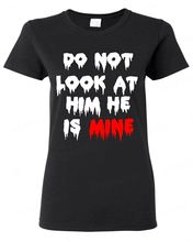 Buy Look Him Mine WOMAN T-SHIRT Zombie Halloween Custom Couple Tee Top Tees 2017 Summer Style T Shirt Harajuku for $12.99 in AliExpress store