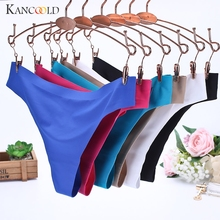 2017 Cheap Women Sexy Panties Solid Invisible Soft Thongs Lingerie Briefs Ice Silk Seamless Crotch Hipster Underwear Panties 331