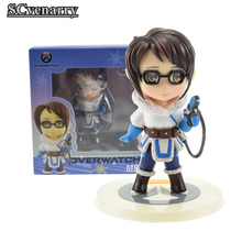 Love Thank You OW Over game watch Overwatches Hanzo Mei figure toy Collectibles Model gift doll 12cm