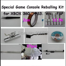 Free Shipping 9 in 1 BGA Reballing Kit Special Game Console Reballing Kit for XBOX 360 for PS3 for Wii for PSP BGA Reballing(China)