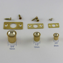 12mm ball roller catch mortice friction latch cabinet cupboard door with plate brass(China)