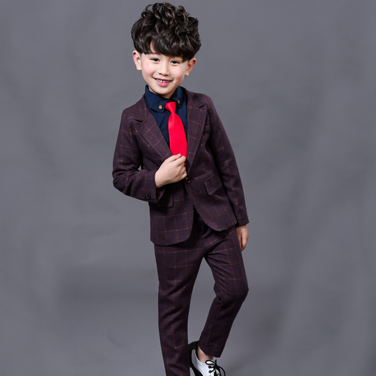2017 New Children Suit Baby Boys Suits Kids Blazer Boys Formal Suit For Wedding Boys Clothes  Blazer+Pants 2pcs 3-12Y<br>