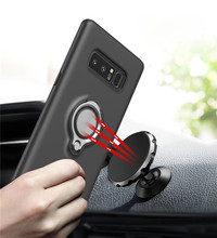 For Samsung Galaxy Note 8 case Car Holder Stand Magnetic Suction Bracket Finger Ring TPU + PC Cover for Galaxy Note 8(China)