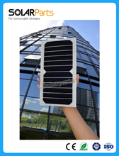 Solarparts 1pcsx 6V/6W 1000mA flexible high efficiency mono cell transparency pet solar panel solar module DIY kits toys charger