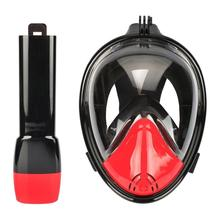 Diving Masks Anti-fog Top Dry Snorkeling Mask Adults Kids Full Face Swimming Training Mask Water-resistant 180-Degree(China)