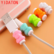 YIDATON 10pcs / packet Cable Protector USB Cable Winding Machine Case for iPhone 5 5s 6 6s 7s plus Cable Protection