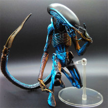 "7"" NECA Toy Aliens blue alien Xenomorph figma Predators riple superman PVC action Figure Collectible model doll(China)"