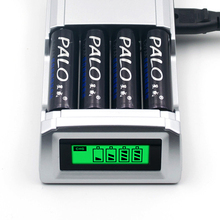 EU/US 4 Ports 1.2V AAA AA Rechargeable Battery Charger With LCD Display Ni-MH Ni-CD Intelligent Battery Charger