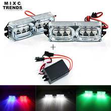 High Power 2x6 LED DRL Motorcycle Strobe Brake Day Light 12V 12W Car flash strobe police warning light with controlled