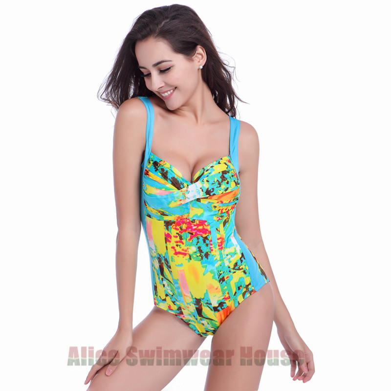 2017 New Factory Outlet Plus Size Highwaist Swimsuit Bikini Push Up Womens Swimming Suit Women Bathing Suits With Padding<br>