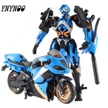 (YNYNOO)15cm Motorcycle Model Transformative Al West Carroll Robot Car Action toys Anime Plastic Toys Action Figure Boys Gift