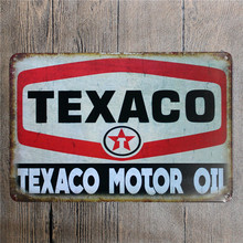 Texaco motor oil. tin signs vintage metal plate iron painting wall decoration for cafe bar restaurant