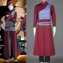 Free Shipping Naruto Gaara Red Anime Cosplay Costume custom made(China)