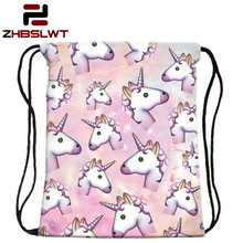 ZHBSLWT New Fashion Women Unicorn Backpack 3D Printing Travel Softback Women Mochila Drawstring Bag School Girls Backpacks-001