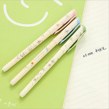 3pcs/lot four leaf grass neutral pen 0.5 mm students kawaii stationery school office supplies material escolar gel pen