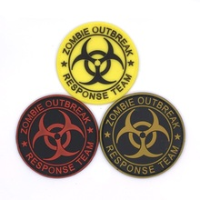 Resident Evil Series PVC Badge Zombie Outbreak Response Team Rubber Badges 3D Patch For Clothing Cap Backpack Accessories