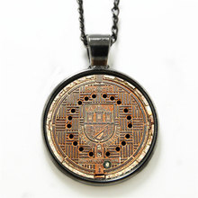 10pcs/lot Manhole Cover necklace Manhole Cover Art Pendant necklace glass Photo Gift necklace(China)