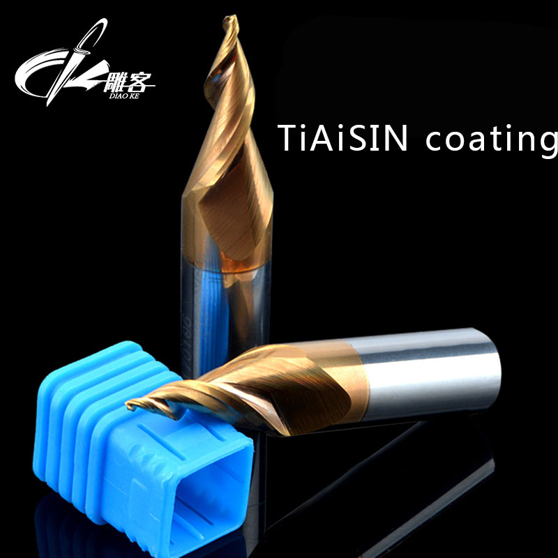 1PCS 12mm SHK Coating taper engraving  cutter advertising, luminous character, spiral taper knife 28Degree CED1.5mm<br>