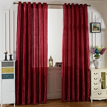 2016 Fashion Design Pure Color Window Curtains Grommet Ring Top Blackout Curtains For living Room Children Bedroom 100 x 250CM