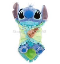 New Lilo and Stitch Babies Baby Stitch Plush with Blanket Toy 20cm Cute Swaddle Stuffed Animals Kids Toys Dolls Children Gifts