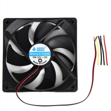 1pcs 120mm 120x25mm 12V 4Pin DC Brushless PC Computer Case Cooling Fan 1800PRM Futural Digital Dorp Shipping AUGG9