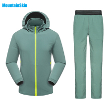 Mountainskin Men's Women's Quick Dry Breathable Jackets Pants Outdoor Sportswear Suit Trekking Hiking Fishing Running Sets MA123